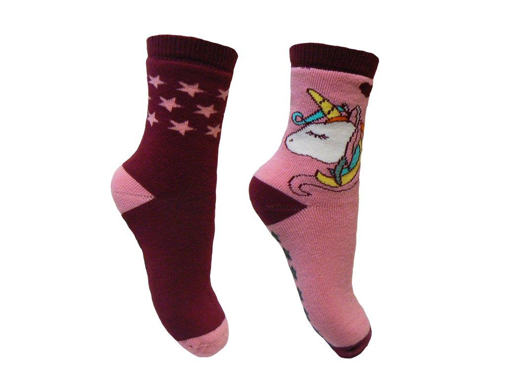 divci ponozky jednorozec