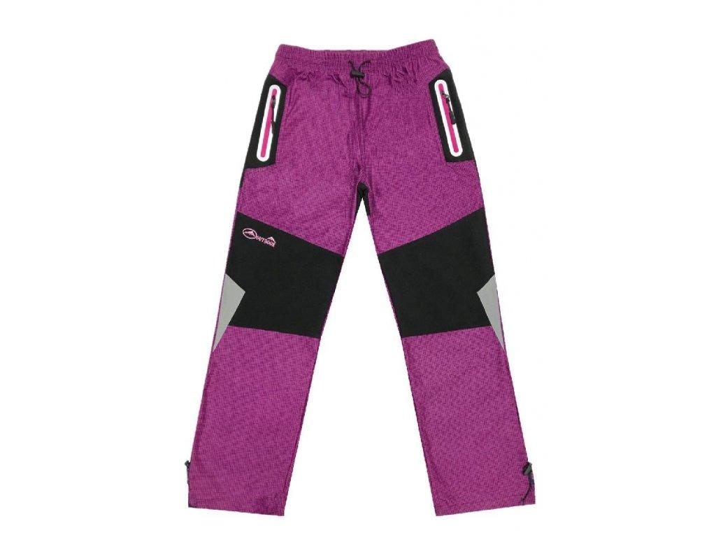 0f6b5f8b4d3 Dívčí outdoorové kalhoty-KUGO T5707