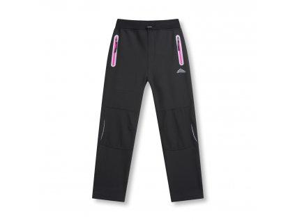 Dívčí softshellové kalhoty s flísem