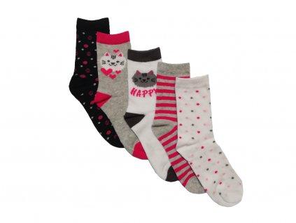 dívčí ponožky kočička