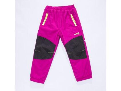 Dívčí šusťákové kalhoty, zateplené - Wolf B2871, vel.80-92