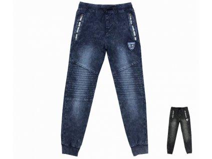 Riflové kalhoty - tepláky