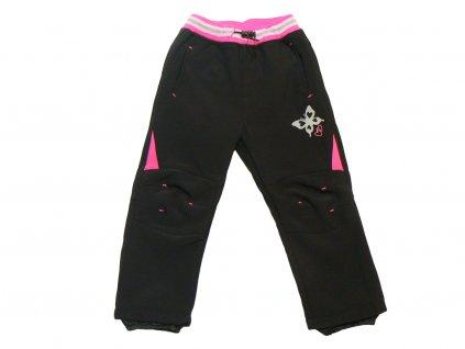 Dívčí softschellové kalhoty s flísem - KUGO B211, vel.86-116