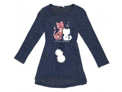 Dívčí šaty s flitry