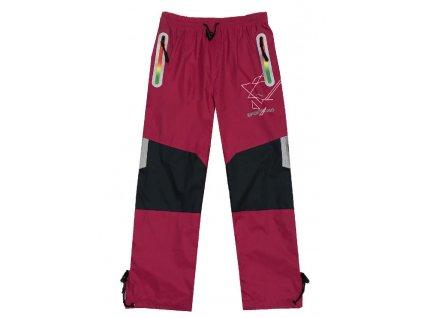 Dívčí šusťákové kalhoty-KUGO K718, vel.116-146