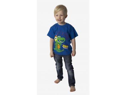 Chlapecké triko - CALVI 18-117, ve.100-120